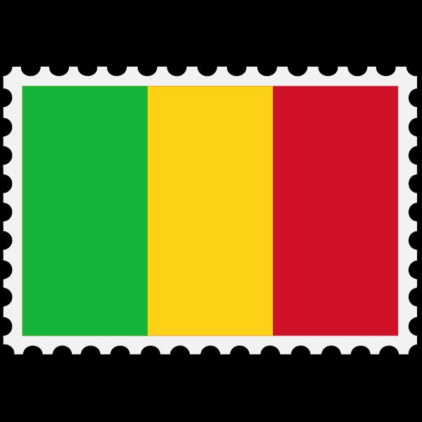 Stamp Mali Flag