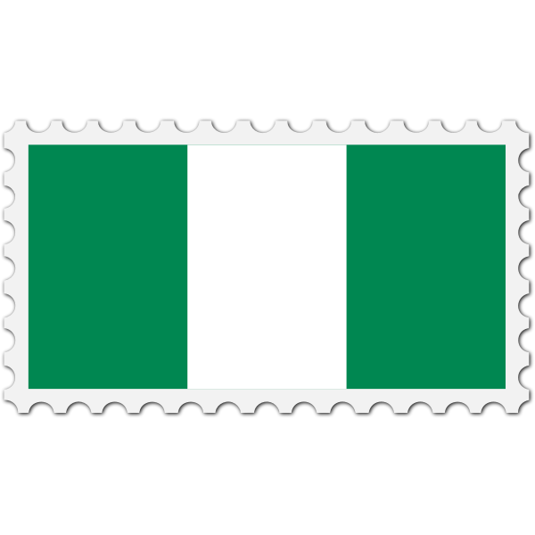 Stamp Nigeria Flag
