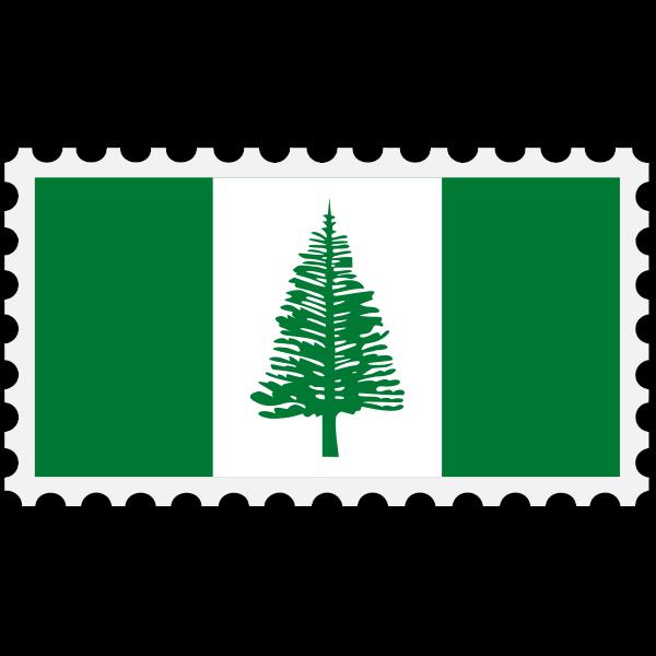 Stamp Norfolk Islands Flag