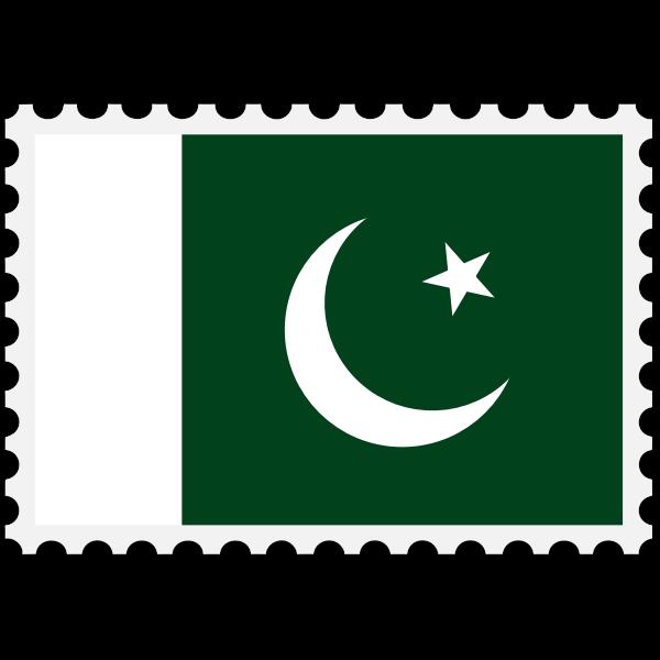Stamp Pakistan Flag