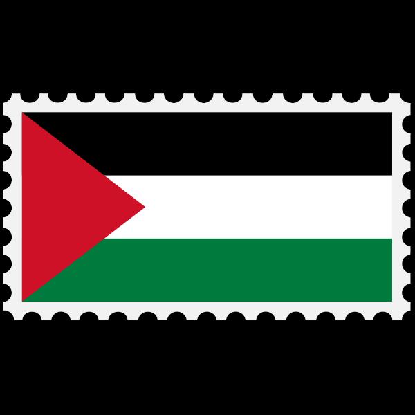 Stamp Palestine Flag