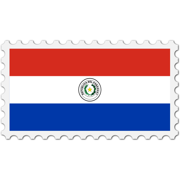 Stamp Paraguay Flag