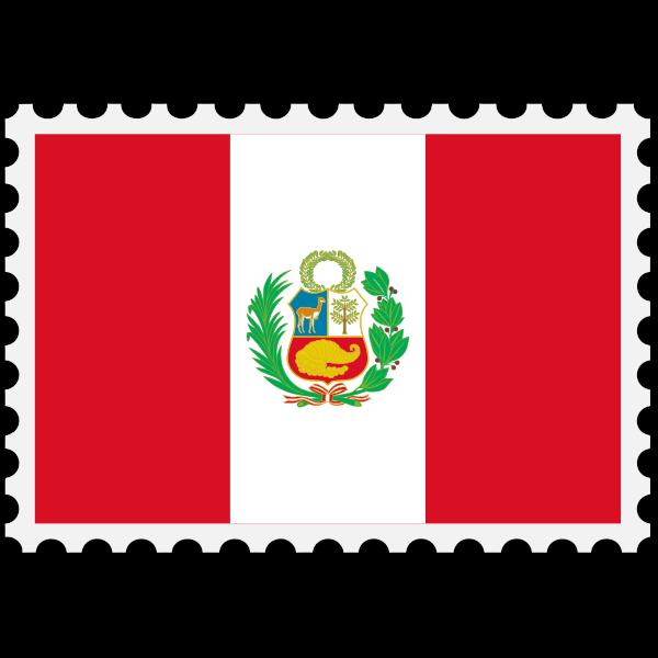 Stamp Peru Flag