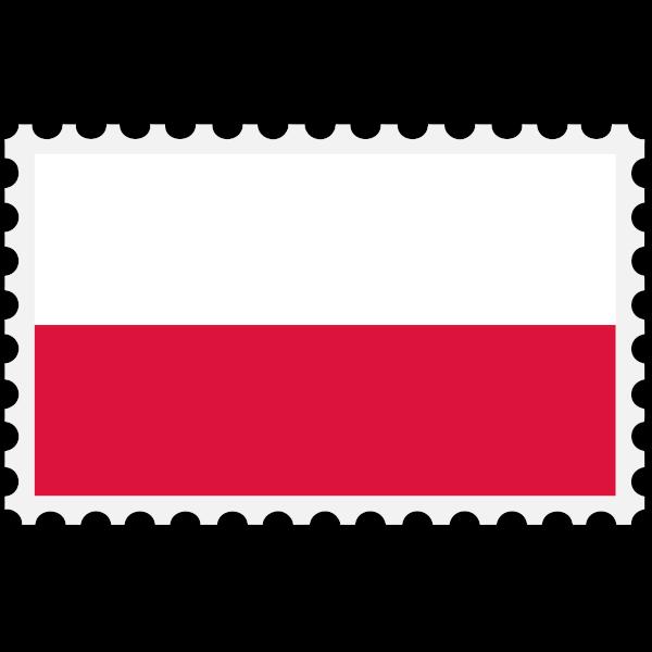 Stamp Poland Flag