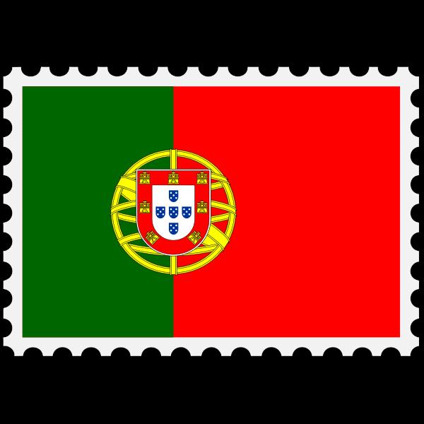 Stamp Portugal Flag
