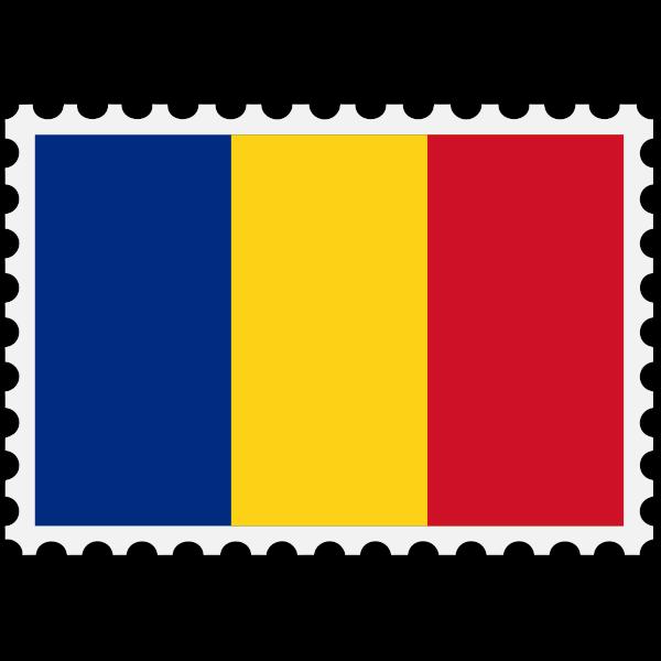 Stamp Romania Flag