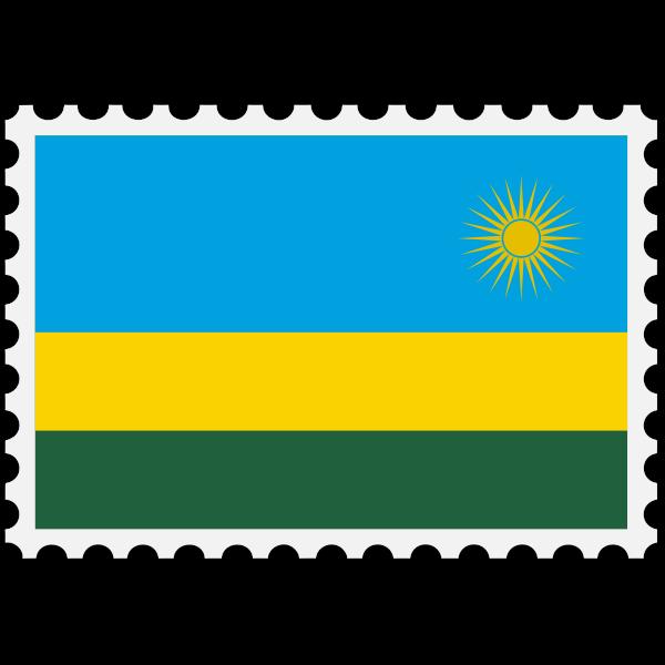 Stamp Rwanda Flag