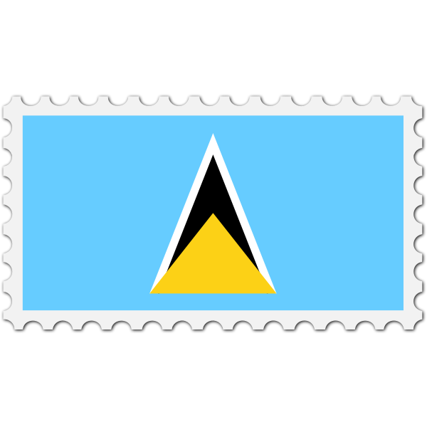 Stamp Saint Lucia Flag