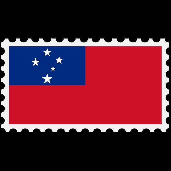 Stamp Samoa Flag