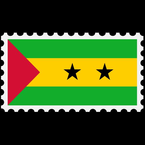Stamp Sao Tome Principe Flag