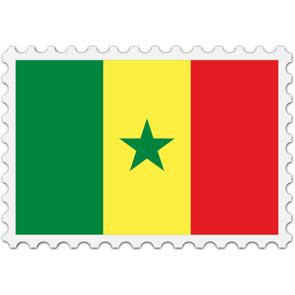 Senegal flag stamp