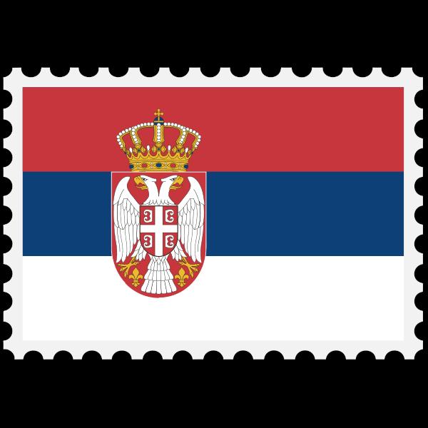 Stamp Serbia Flag