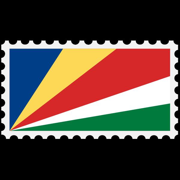 Stamp Seychelles Flag