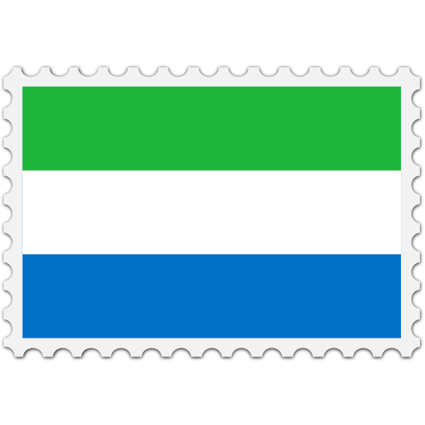 Stamp Sierra Leone Flag