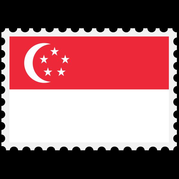 Stamp Singapore Flag