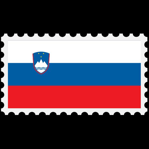 Stamp Slovenia Flag