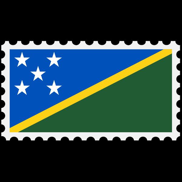 Stamp Soloman Islands Flag