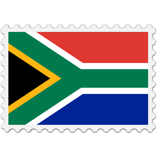 Stamp South Africa Flag