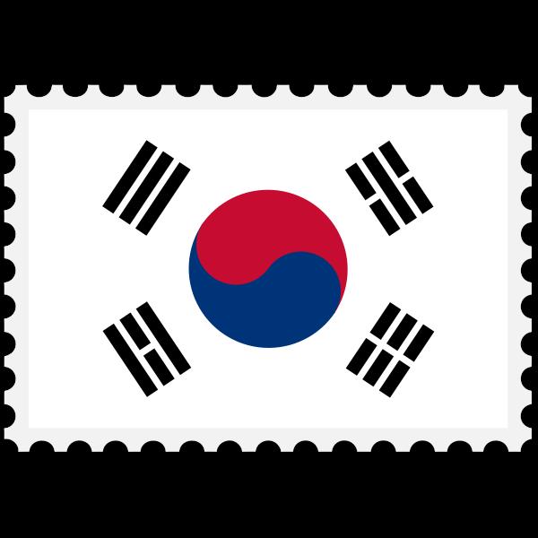 Stamp South Korea Flag