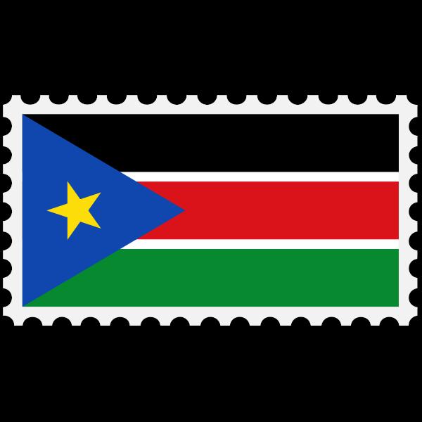 Stamp South Sudan Flag