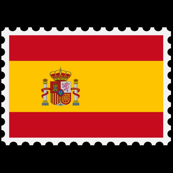 Stamp Spain Flag