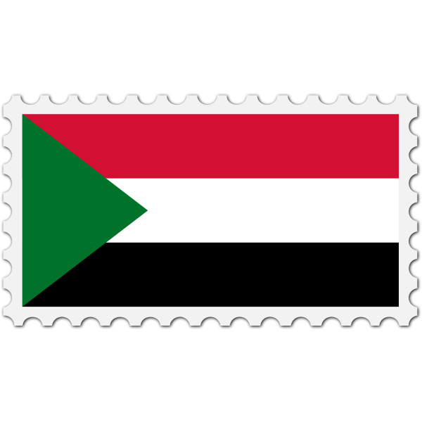 Stamp Sudan Flag