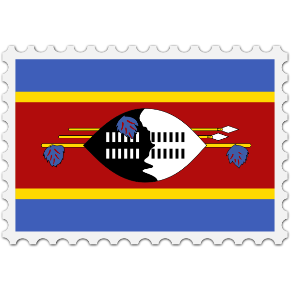 Stamp Swaziland Flag