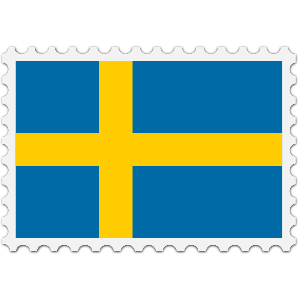 Stamp Sweden Flag