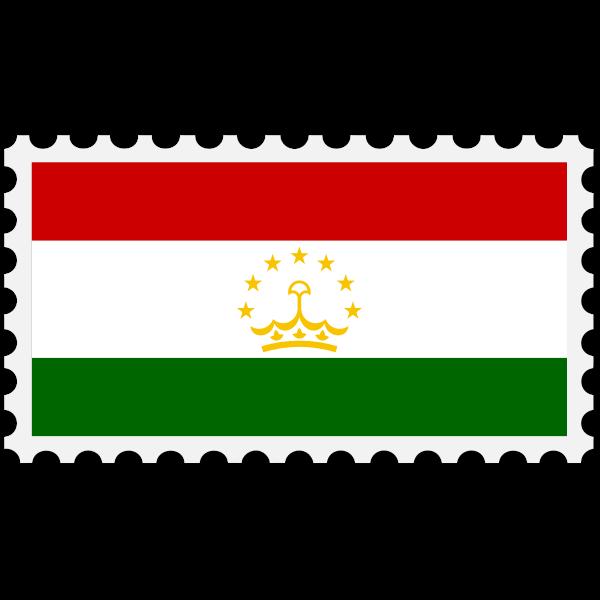 Stamp Tajikistan Flag