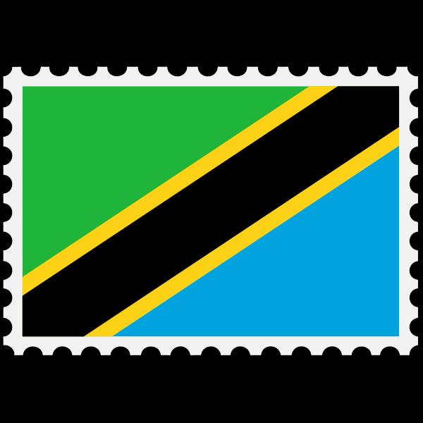 Stamp Tanzania Flag