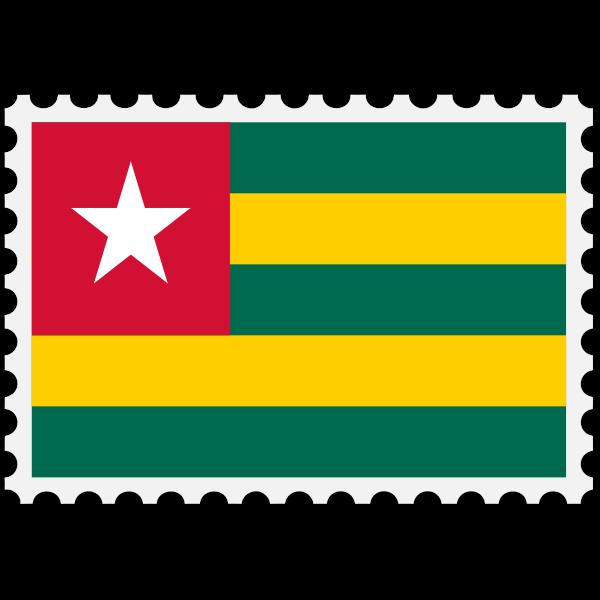 Stamp Togo Flag