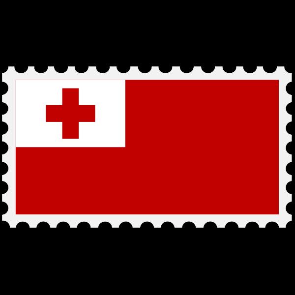 Stamp Tonga Flag