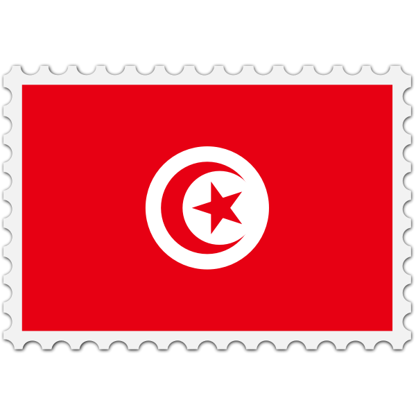 Stamp Tunisia Flag