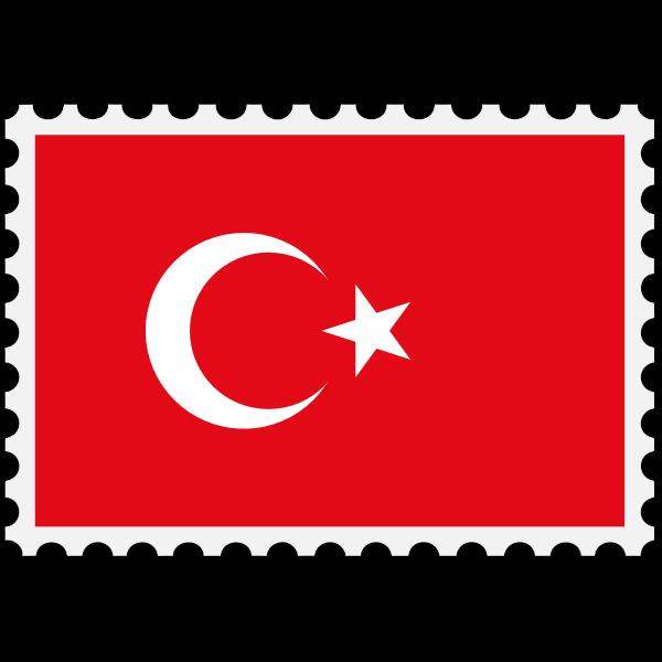 Stamp Turkey Flag
