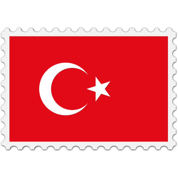 Stamp Turkey Flag