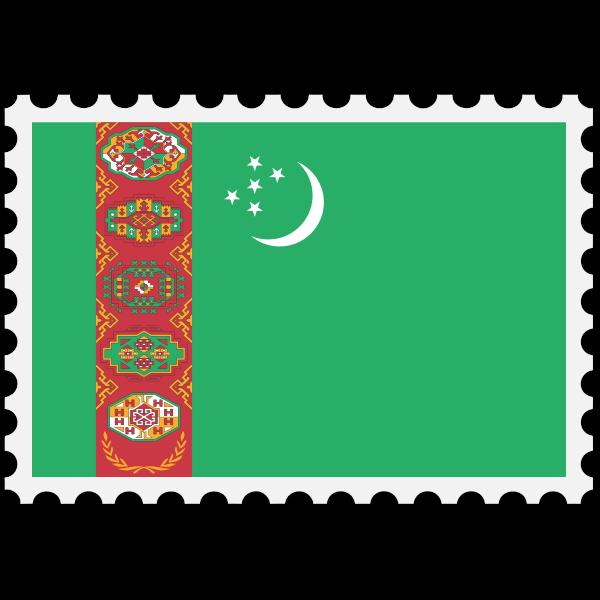 Stamp Turkmenistan Flag