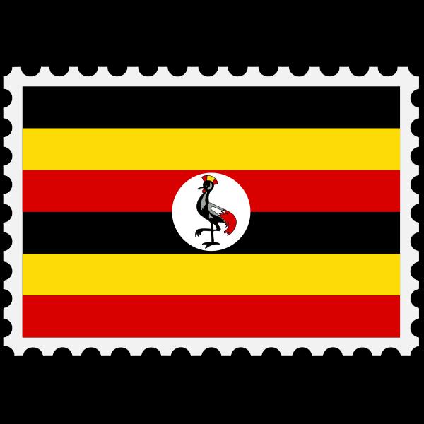 Stamp Uganda Flag