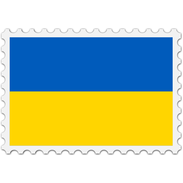 Stamp Ukraine Flag