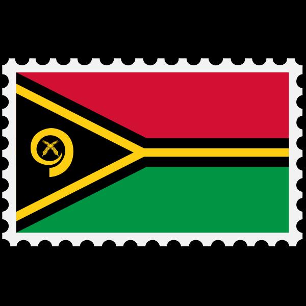 Stamp Vanuatu Flag
