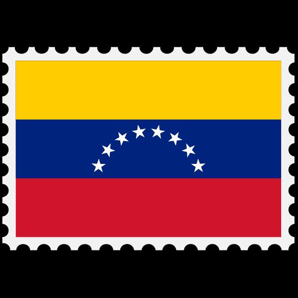 Stamp Venezuela Flag