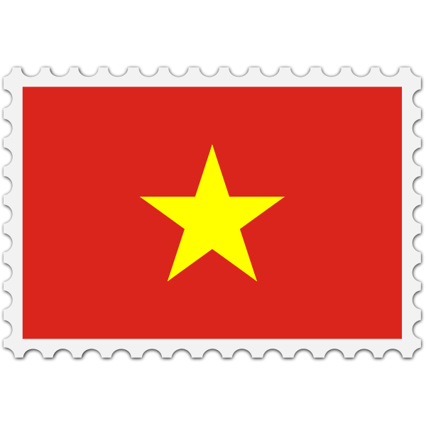 Stamp with Vietnam Flag