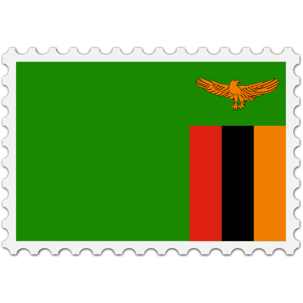 Stamp Zambia Flag