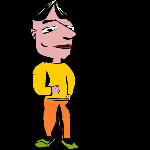 Man with big head vector image