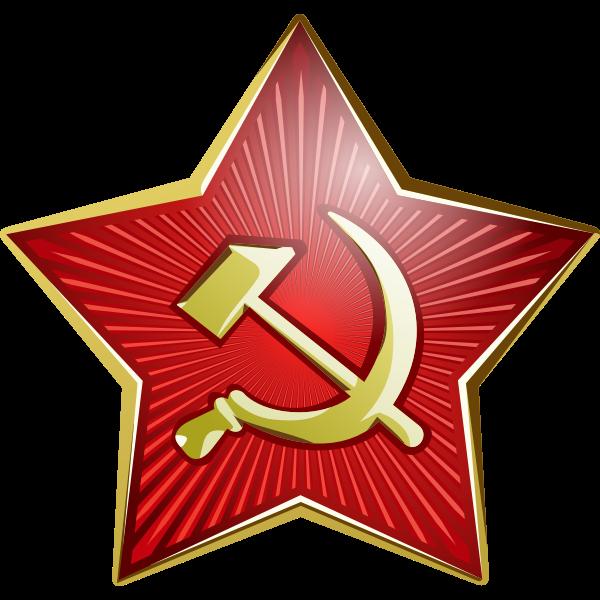 Star of Soviet soldier