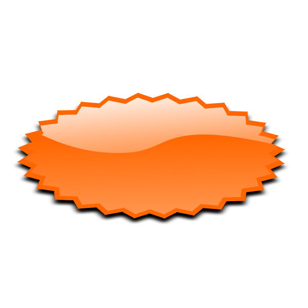 Oval shaped orange star vector image
