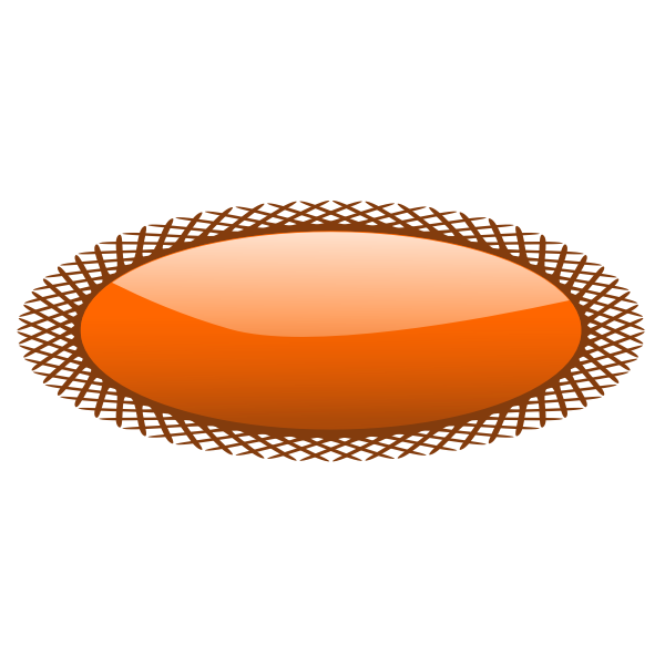 Oval shape button with net style border vector image