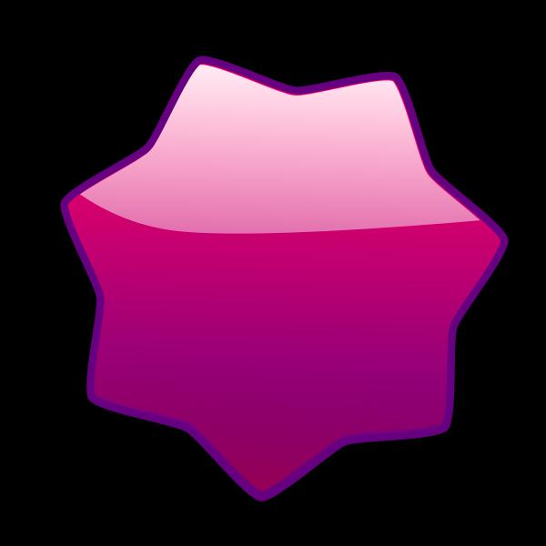 Led star purple vector image