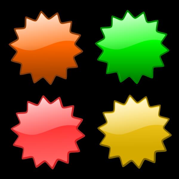 Four geometrical stars vector illustration