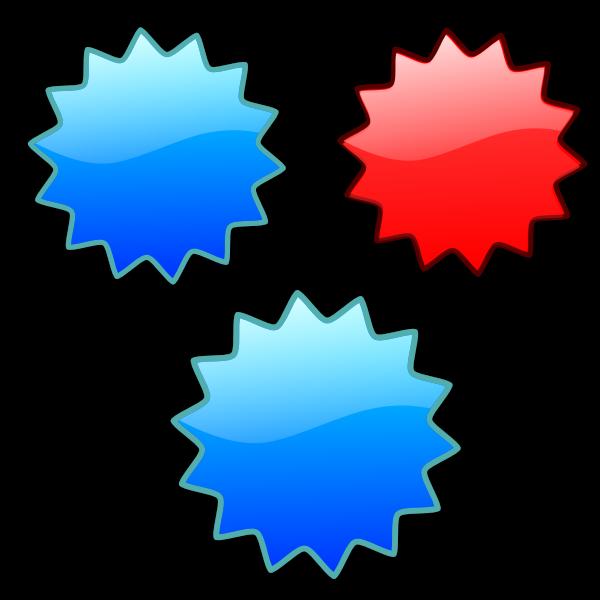 Shiny stars set vector image
