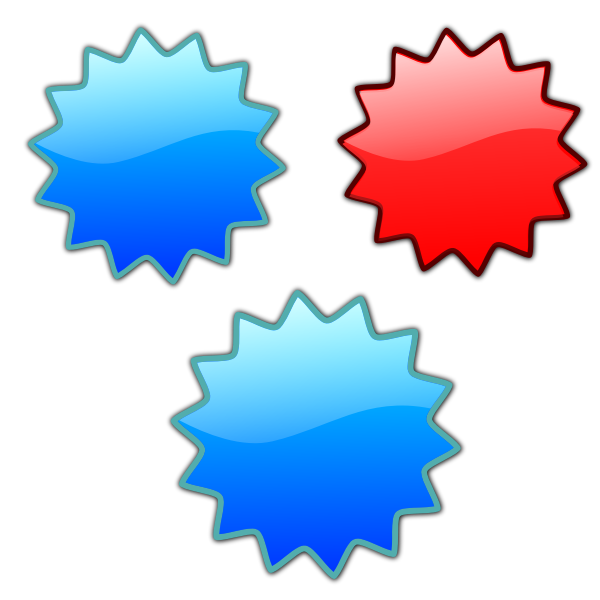 Shiny stars set vector image